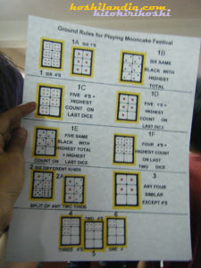 Mooncake Festival Dice Game