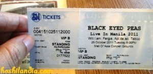 BEP live in Manila concert ticket
