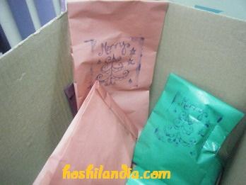 gift wrap concept school supply