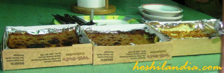 wil-fel's  maja blanca, cassava cake,  and rice cake