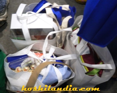 grocery bags at blogapalooza
