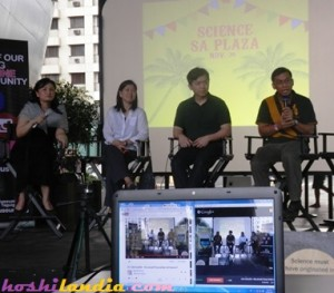 Cafe Scientique panelists Gemma Narisma, Dr. Gerry  Bagtas, Dr. Solidum