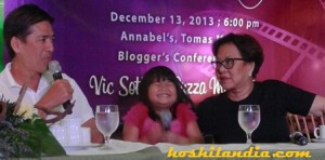 Vic Sotto, Ryzza Mae Dizon and Bibeth Orteza
