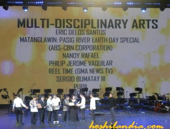 Best Multi-disciplinary artists  at Ani ng Dangal 2014