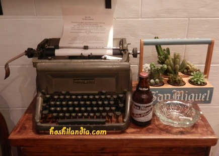 Writer's Table - a mini garden art by Karen Capino