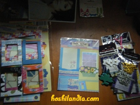 ogranizing scrapbook materials