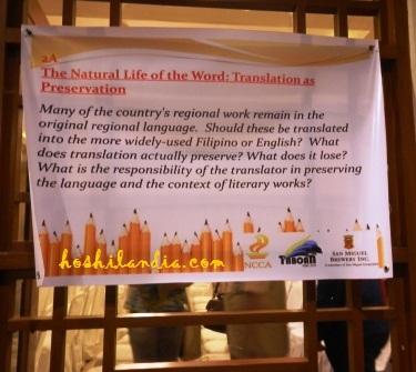 6th taboan, translation  of philippine literature