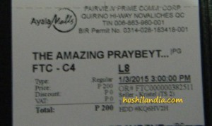 Movie Ticket The Amzing Praybeyt Benjamin