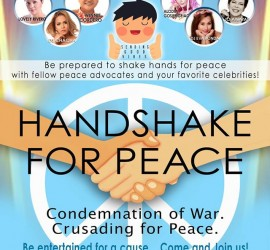handshake for peace Poster