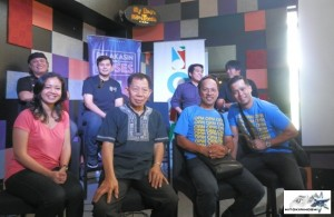 Jong Cuenco, Mel Villena, NCCA chairman Felipe De Leon (center), Noel Cabangon, Dingdong Avanzado, Bactidol official, and other OPM artsist at Pinoy Music Festival media confrence b