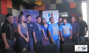 Pinoy Music Festival leaders Mel Villena, Patricia Hizon, Jong Cuenco, Bayang Barrios,  Felipe De Leon,  Ogie Alcasid,  Dingdong Avanzado, Noel Canagon,  Bactidol official and an OPM artist.