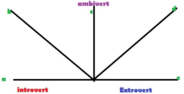 personality type, ambivert explanation chart