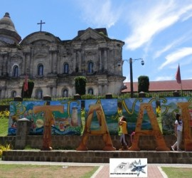 Basilica of Saint Martin of Tours  facade and taal letters