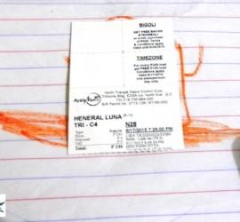 movie ticket Heneral Luna