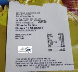 Etiquette for Mistresses Movie ticket  (2) b