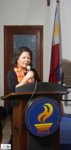 NCCA OIC and Executive Director Marichu Tellano
