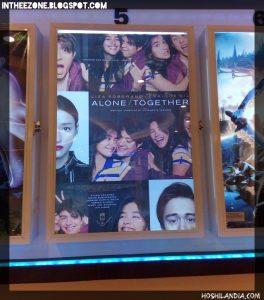 Poster ng Alone Together movie ng LizQuen by Hitokirihoshi